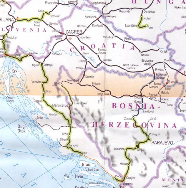croatie carte du monde